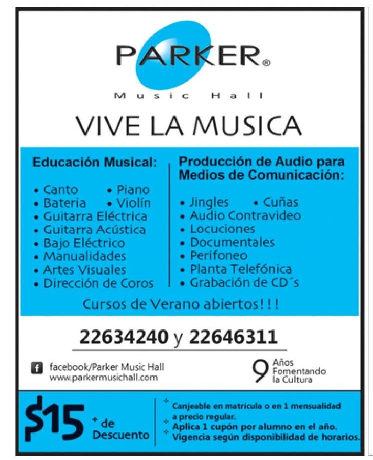 escuela Parker music hall VIVE a Musica