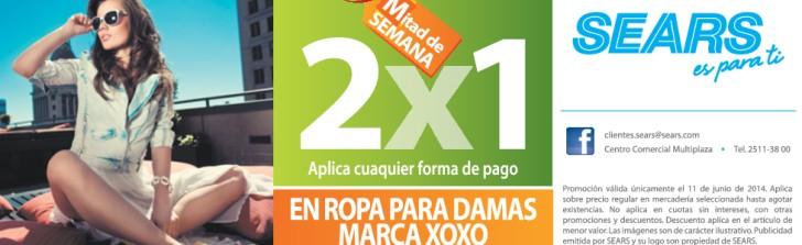 marca XOXO Ropa para DAMAS promocion SEARS - 11jun14