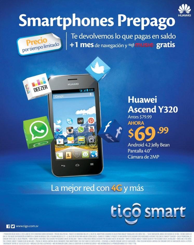 oferta HUAWEI Ascend Y320 precio rebajado TIGO - 06jun14