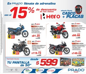 PRADO promocion Motos HERO casco mas placas - 04jul14