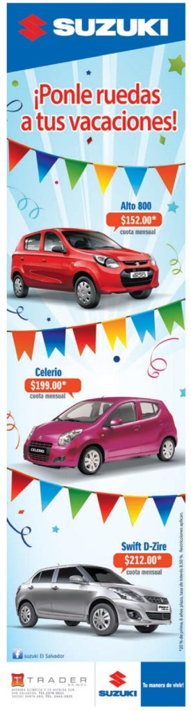 ROAD to vacations SUZUKI promotions - 07jul14