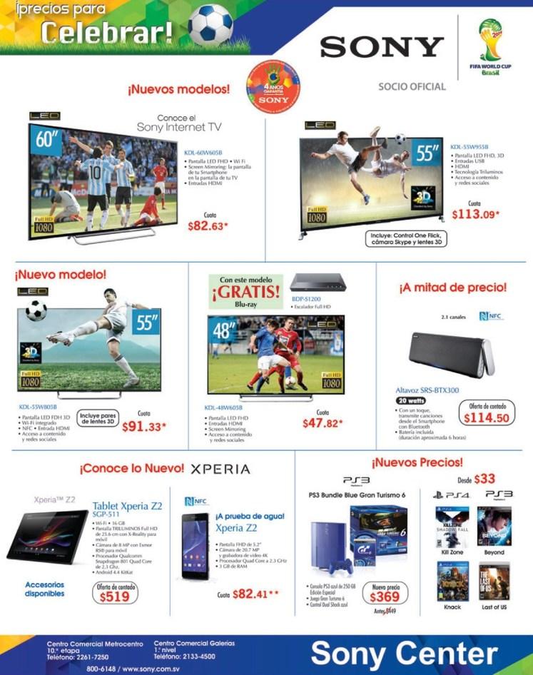 SONY center el salador precios para celebrar - 05jul14