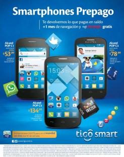 los telefonos mas economico y populares TIGO smart - 04jul14