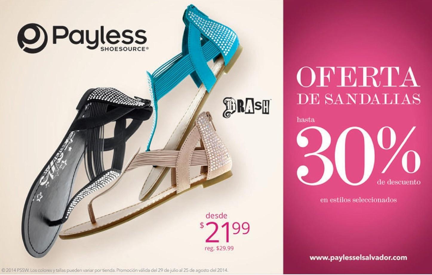 0355cb69 Payless ofertas SANDALIAS BRASH para dama - 08ago14 - Ofertas Ahora