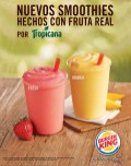 SMOOTHIES real fruit tropicana by BURGER KING - 08ago14