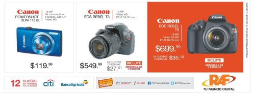 semi professional cameras CANON EOS REBEL - 08ago14