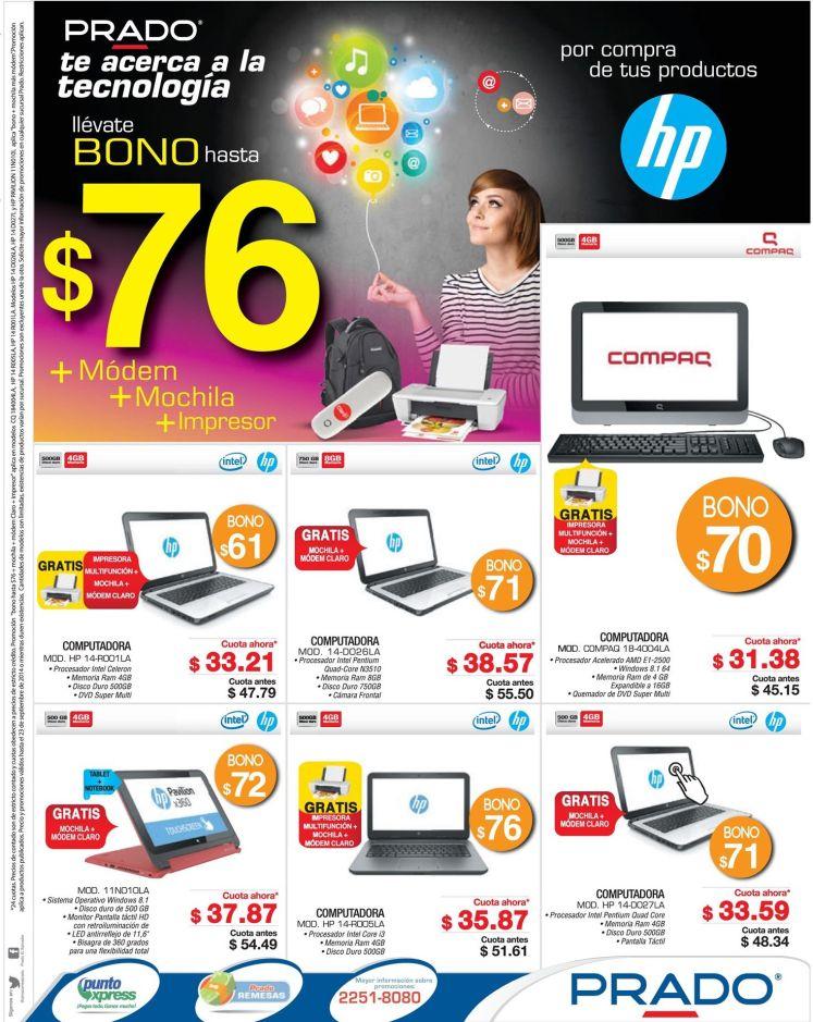 COMPRAS en tecnologia con bono y descuento PRADO - 20sep14