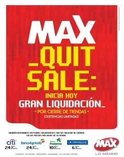 Cierre de Tiendas MAX gran liquidacion OUT SALE - 13sep14