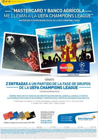 ENJOY uefa champions league Banco Agricola promociones