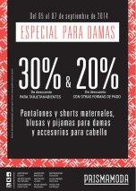Fin de Semana REBAJAS especial para damas PRISMA MODA - 05sep14