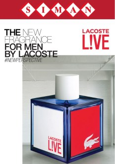 LACOSTE LIVE new fragance for MEN avalible SIMAN