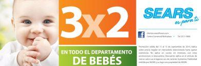 Promocion 3x2 en tus compras departamento de BEBES - 13sep14
