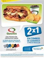 QUIZNOS sandwiches promotions banco agricola - 01sep14