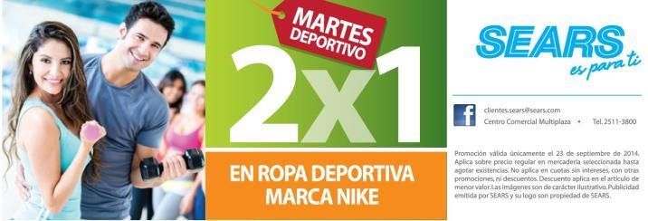 SEARS Promociones en ropa deportiva NIKE - 23sep14