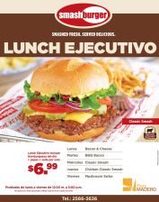 SMASH burger fresh delicious LUNCH ejecutivo - 22sep-14