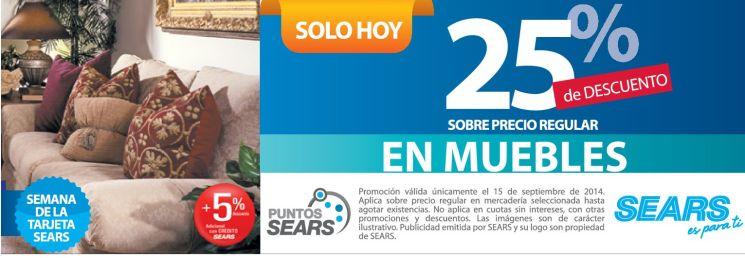 Semana de la independencia patria en MUEBLES sears - 15sep14