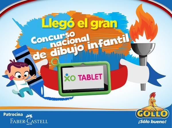 XO Tablet concurso nacional de dibujo infantil