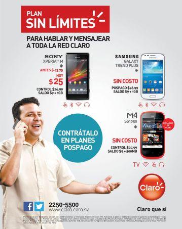 compra un plan de celular sin limites OFERTAS CLARO - 25sep14