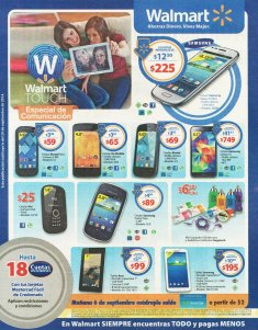 promocion Walmart touch especial de comunicacion - 05sep14