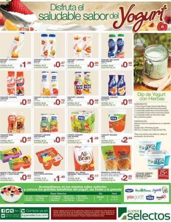 variedad de ofertas en productos de yogourt super selectos - 25sep14