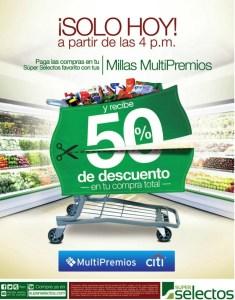 50 OFF al pagar con MILLAS MULTIPREMIOS de banco CITI - 30oct14