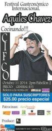 Aquiles Chavez COCINANDO festival gastronomico internacional 2014