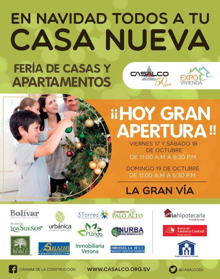 CASALCO presenta Feria de casas y apartamentos en EL SALVADOR - 17oct14