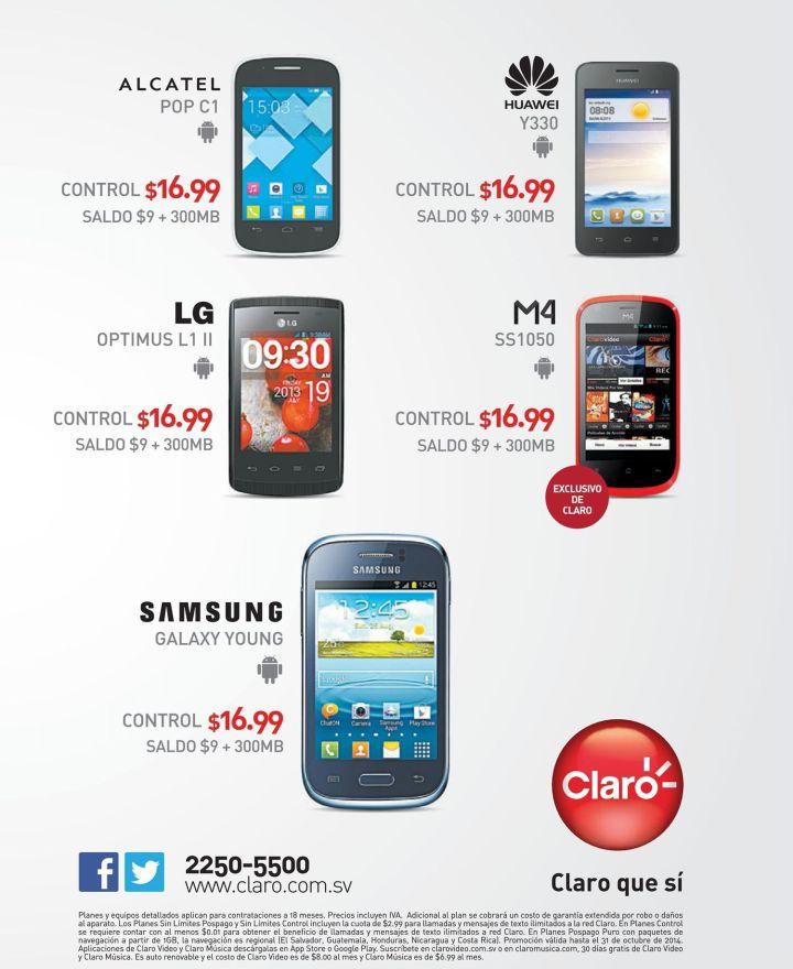 CLARO telefonos celulares con android - 17oct14