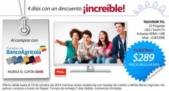 CUPON compras online LA CURACAO pantalla TCL - 16oct14