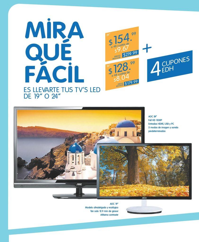 CUPONES para comprar un TV LED AOC en PRADO - 22oct14