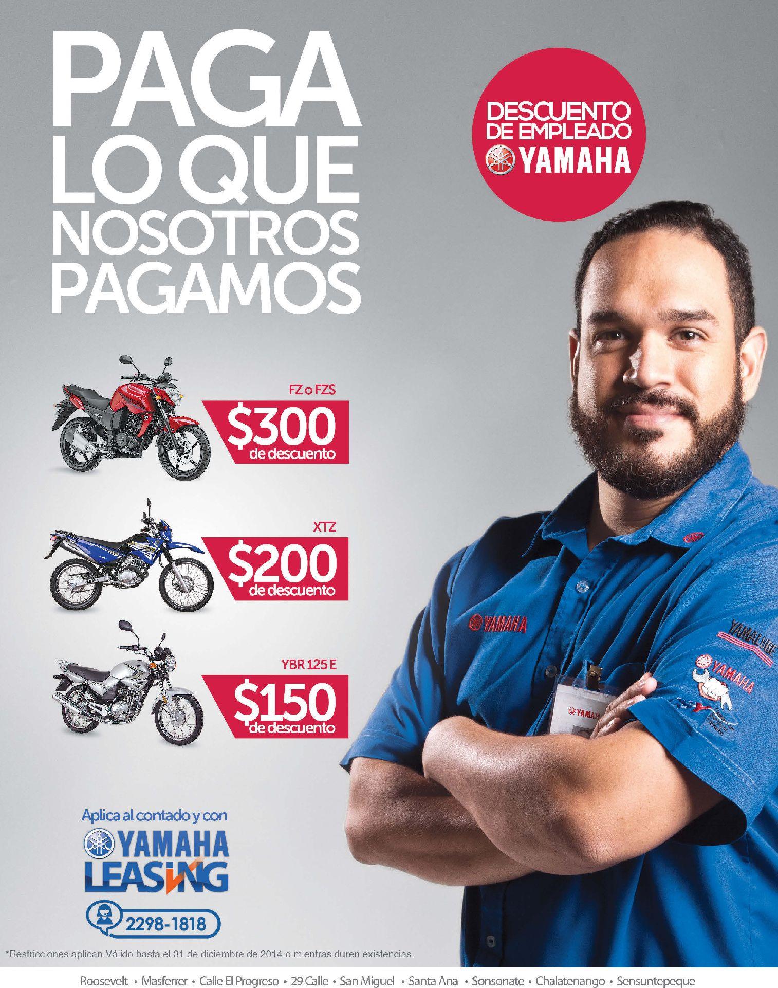 Comprar moto yamaha con descuento de empleado - 06oct14
