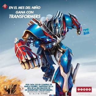 Decorating your room with TRANSFORMERS participa con tus compras