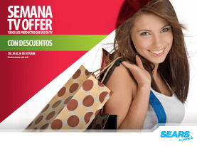 Descuentos SEARS semana TV OFFER products - 21oct14