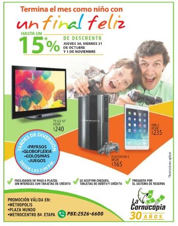 Descuentos en la cornucopia electrodomesticos televisores playstation tablet