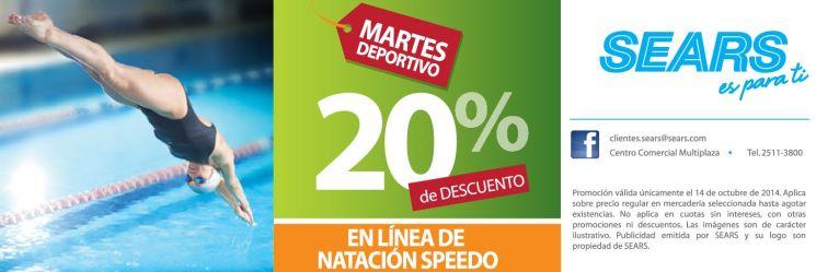 Descuentos en marca deportiva SPEEDO natacion SEARS - 14oct14