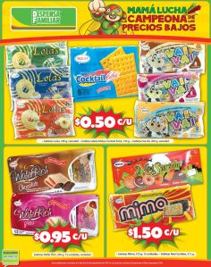 Despensa familiar ofertas Paquetes de galletas 50 centavos - 28oct14