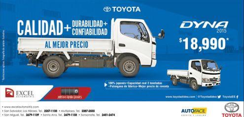 Excel automotriz camiones de calidad TOYOTA