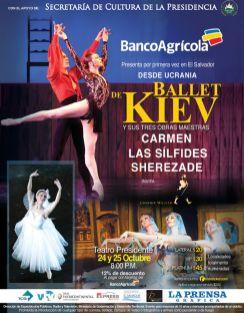 From UKRANIA Ballet of KIEV masters CARMEN LAS SILFIDES SHEREZADE