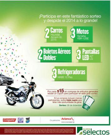 GANA con super selectos carros motos viajes aereos televisores - 29oct14