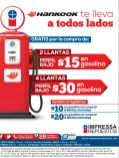 Gasolina GRATIS por la compra de tus llantas - 03oct14