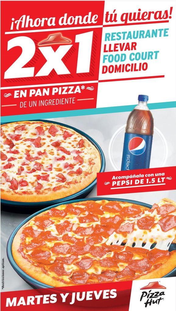JUEVES pizza hut promocion 2x1 - 16oct14