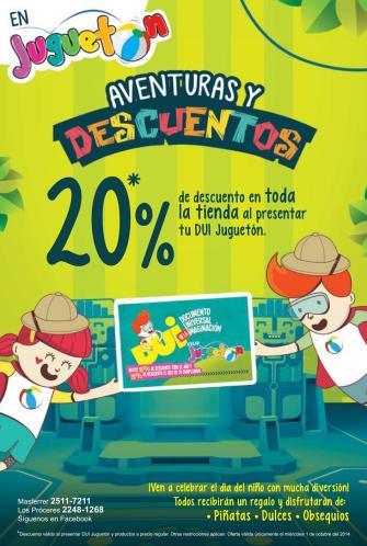 JUGUES con aventuras y descuentos JUGUETON - 01oct14