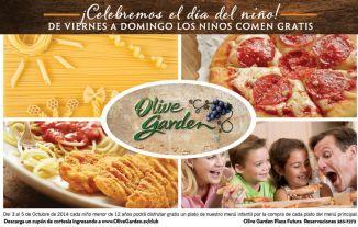 Los niños comen GRATIS en OLIVE GARDEN - 04oct14