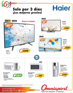 Ofertas HAIER electric TV omnisport promociones - 15oct14