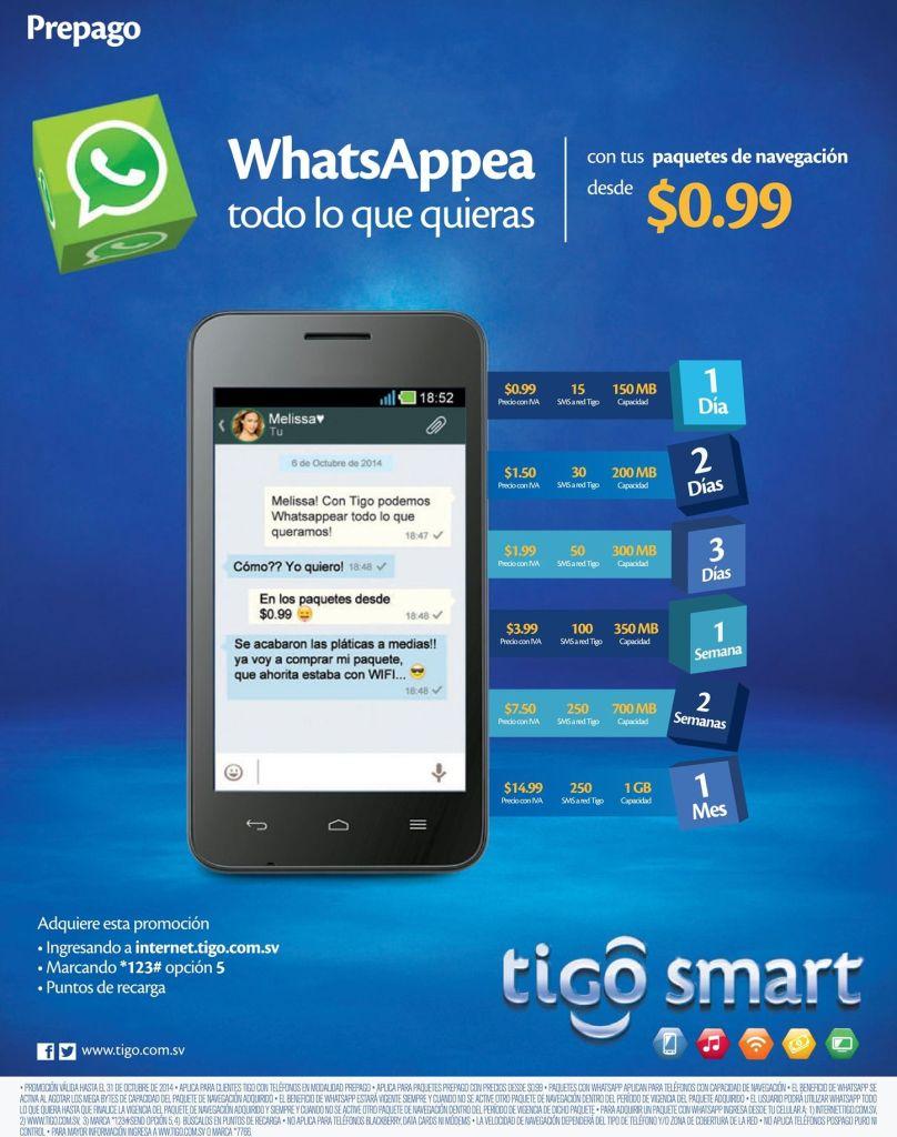 Paquetes de navegacion de internet TIGO promociones - 22oct14