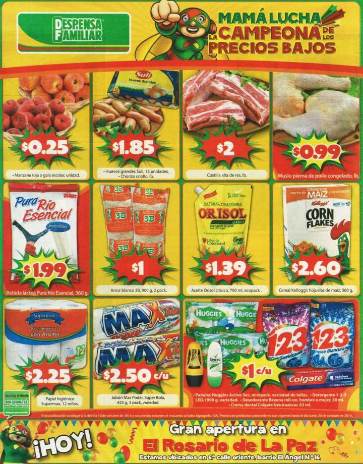 Precios bajos en SUPERMERCADO despensa familiar ofertas - 17oct14