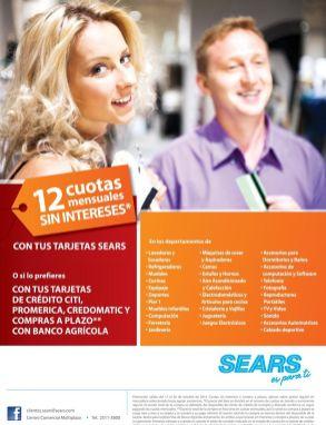 Promociones con tus tarjetas de credito en SEARS - 10oct14