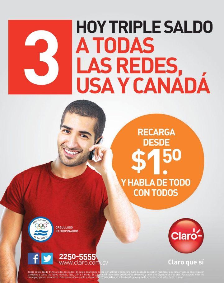 Promociones de recarga CLARO el salvador ofertas - 15oct14