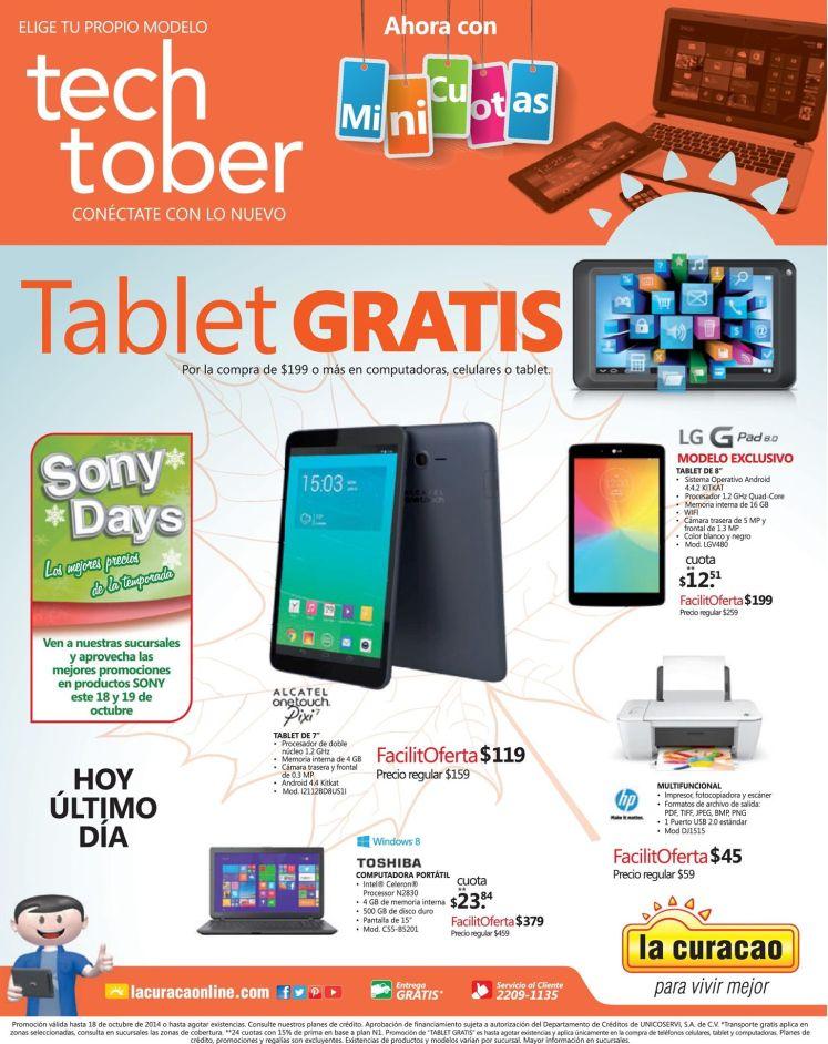 Promocones de fin de semana LA CURACAO tech tober - 18oct14