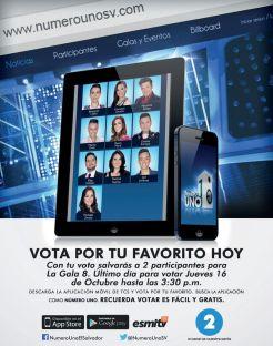 Quieres votar esta semana por tu NUMERO UNO sv